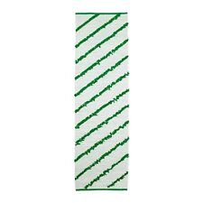 Ikea Sallskap Rug, flatwoven with green fabric accents, 250x70cm