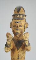 ART AFRICAIN JOLIE STATUE DECORATIVE IDOMA ANJENU NIGERIA 46cm AFRICAN TRIBAL