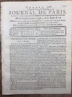 Aerolínea Las Aguas París 1790 Perier Derechos Feudal Chamousset Punch Chocolate