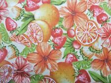 Paraíso Delicias Flor Tropical fruta naranjas quilting Treasures Tejido YD