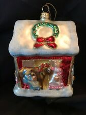 """Hand Crafted Polonaise Christmas Ornament """"Eight Maids A'Milking"""""""