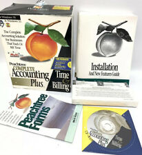 1997 Peachtree Complete Accounting Plus Time & Billing Box Set CD Floppy Manual