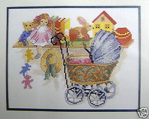 Antique Pram  & Toys - Semco counted cross-stitch kit