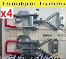 4x large overcentre over centre latch toggle fastener for trailer, toolbox M3