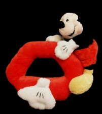 Doudou Hochet Souris Mickey DISNEY Rouge Jaune Mains blanches Grelot
