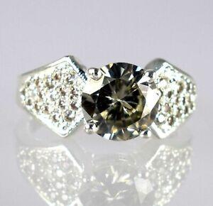Champagne 5.41 Ct Certified  Diamond Solitaire Men's Rare Design Ring