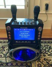 "Karaoke Usa Gf846 Karaoke Machine 7"" Screen, Record, Bluetooth, Bonus Cds Disney"