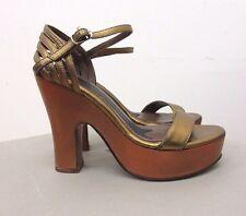 MARNI 'cemsf01c12' oro sandali in pelle con plateau misura: EU 37/7 USA