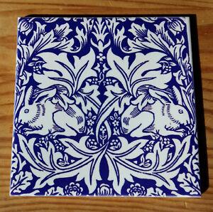 "William Morris tile coaster ""Brer Rabbit""  (9 designs available)"