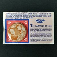 Vintage William Jennings Brian Campaign of 1908 Reproduction Stick Pin on Card