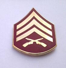 US MARINE CORP RANK E5 SERGEANT Military Veteran Hat Pin 14389 HO