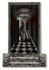 GOTHIC HALLWAY Scene Setter Haunted House Halloween Party Decorations Wall Decor