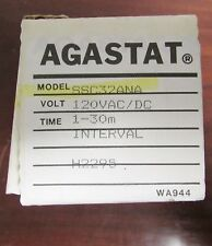 AGASTAT TYCO Interval Timer Relay 120V AC DC 1-30 Minute SSC32ANA