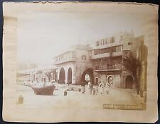 Antique Albumen Photograph of The Admiralty, Algiers, c 1890s, Backed on Paper