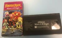 Fraggle Rock VHS Tape Children's Video Where It All began