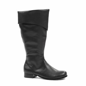 Ellie 121-BERNARD Black Pirate Santa Clause Renaissance Medieval Knee-High Boot