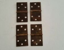 4 MATCHING VINTAGE STANLEY WORKS STEEL HINGES (197H)
