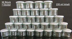 30 Stück Gläser Marmeladengläser Wurstgläser Einweckgläser Einkochgläser 235 ml