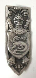 503° Régiment de Chars de Combat, dos guilloché plat, 2 anneaux