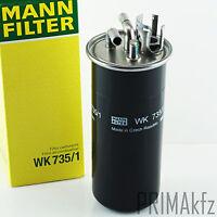MANN FILTER KRAFTSTOFFFILTER WK 735/1 AUDI A6 4F2 C6 4FH 4F5 Allroad Avant