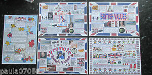 BRITISH VALUES A4 Posters ~ OFSTED ~ Nursery ~ Childminder ~ School~5 designs!