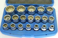 "Steckschlüssel-Satz Multilock E-Profil XZN Nuss-Kasten Torx Nüsse 8-32 mm 1/2"""