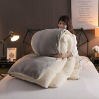 Solid Thicken Fleece Flannel Duvet Cover King Size Comforter Cover Bedding New