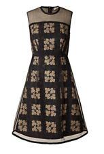Orla kiely Prom Dress Geometric Black Silk Cotton Ivy Black UK10 US6