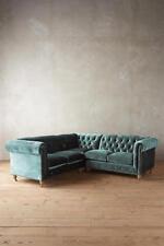 Chesterfield klassische Eckcouch Polster Ecksofa Garnitur Textil Stoff 16101309