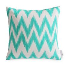 WATERPROOF OUTDOOR Cushion Cover Turquoise / Blue-Green / Aqua Chevron COASTAL