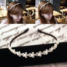 Haarreif Spitze Perlen Blumen Kommunion Kinder Damen schwarz beige