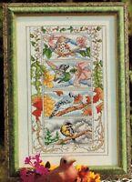 ✔️ Four Seasons of Birds Cross Stitch Design Chart Mike Vickery
