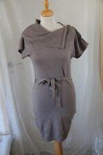 ORIGINAL robe pull MEXX  col montant marron moka Gris taille S ou 36 neuf