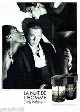 PUBLICITE ADVERTISING 116  2011  Parfum Nuit HOMME Yves ST LAURENT & V Cassel