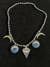 Silver Tone San Diego Chargers NFL Football Charms Bracelet Stretch