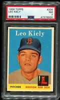 1958 Topps Baseball #204 LEO KIELY Boston Red Sox PSA 7 NM