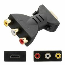 HDMI Klinke Stecker auf 3 Cinch TV Audio Adapter Buchse Konverter Für TV Monitor