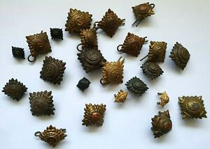 Job Lot Collection x 22 ww2 Era Officers Brass Rank Pips Badges - British Army