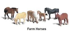 Woodland Scenics Scenic Accents Farm Horses Figures Set N Scale