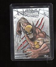 2017 Upper Deck Spiderman sketch card by Darrin Pepe