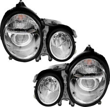 Projector Headlights Chrome Pair Set for 00-02 Mercedes-Benz E320 E430 E500 E55