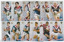 2008 Select NRL Champions Holofoil Parallel ROOSTERS Team Set (12 Cards)