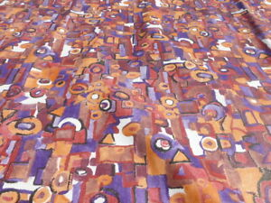 calfskin leather hide skin XL Boho Chic Multicolored Abstract Painting -WILD!