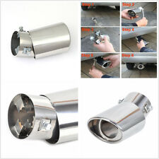 Universal Round Bend Chrome Stainless Steel Car Exhaust Tail Muffler Tip Pipe