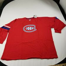 Montreal Canadiens Hockey  Men's T-Shirt 5XL Crew Neck Long Sleeves Red
