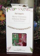 PIER 1 IMPORTS MERRY CHRISTMAS  GLIMMER STRINGS  FLEXIBLE LED LIGHTS 5 FT