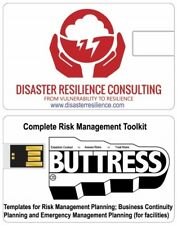 Complete Risk Management Toolkit of Templates - on 2GB USB card