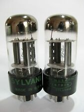 Pair 1959 Sylvania 6SL7GT tubes - Hickok TV7B tests @ 44/43, 46/49, min:32/32