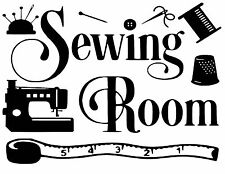Sewing Room Wall Art vinyl Decal / Sticker