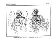 Deux avocats. deux avocats. honore daumier. caricature. 1928. juridique. droit imprimé. justice